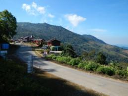 Dorpje vlakbij Phu Chi Fa